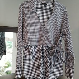 Gingham Button-up Top